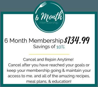 6 Month Membership Pricing